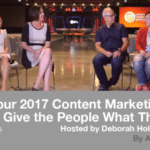 Your 2017 Content Marketing Goal: Give the People What They Want